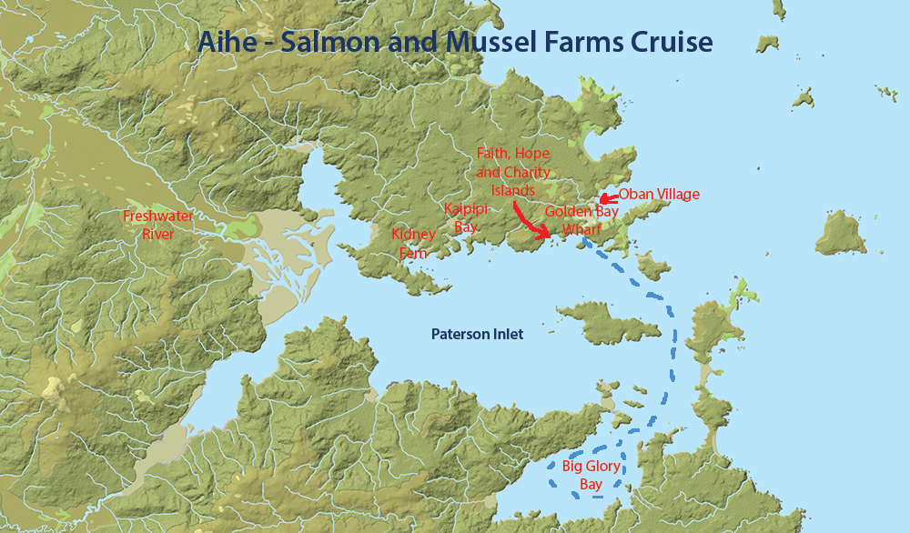 Aiihe - Salmon and Mussel Farms Cruise
